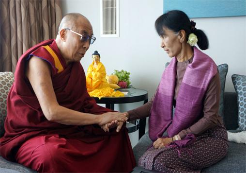 Dalai Lama Bertemu Aung Suu Kyi