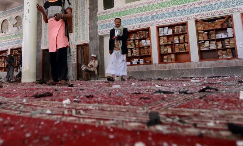 kondisi Masjid setelah terkena Bom