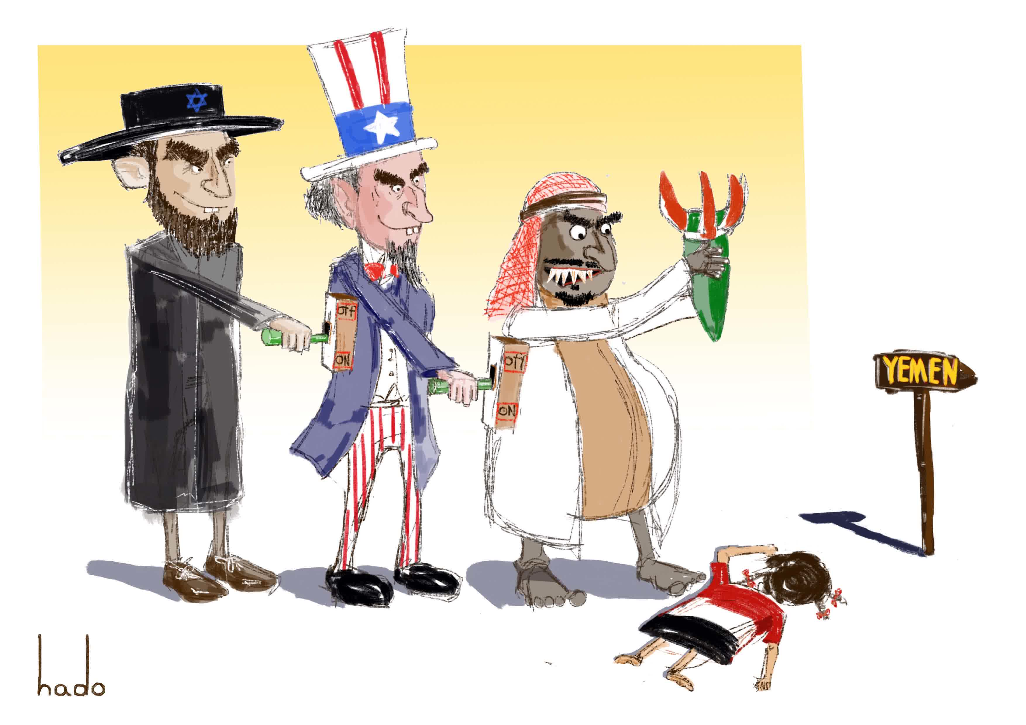 Karikatur Kejahatan Saudi AS Di Yaman ArrahmahNews