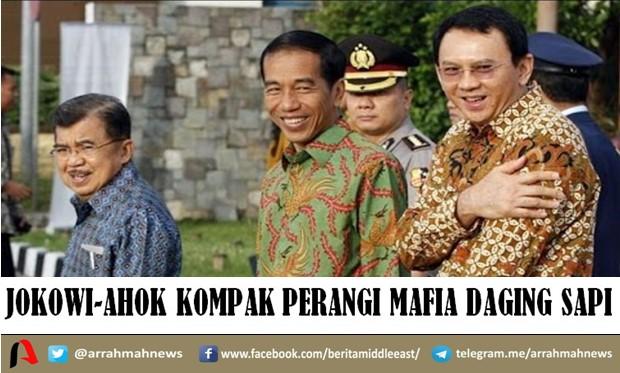Jokowi-Ahok Kompak Perangi Mafia Daging Sapi