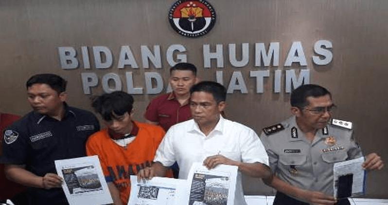 Subdit V Ditreskrimsus Polda Jatim Tangkap Penebar Hoaks
