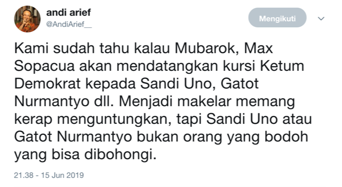 Cuitan Andi Arief