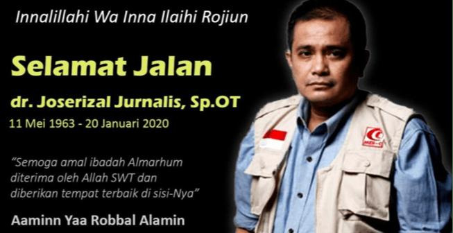 Innalillah! Joserizal Pendiri MER-C dan Rumah Sakit Indonesia di Gaza Meninggal Dunia
