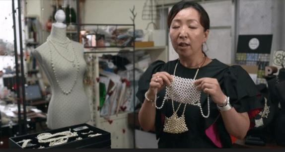 Unik, Desainer Tokyo Ciptakan Masker Mewah dari Mutiara untuk Covid-19